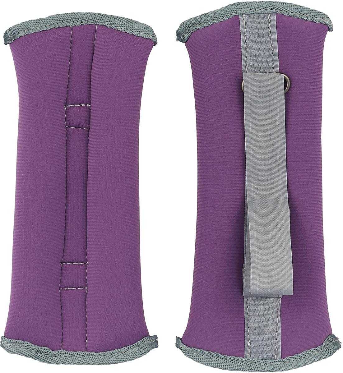 Утяжелитель спортивный Indigo Неопреновые, цвет: фиолетовый, 0,3 кг, 2 шт утяжелитель браслет для рук indigo цвет синий 0 3 кг 2 шт