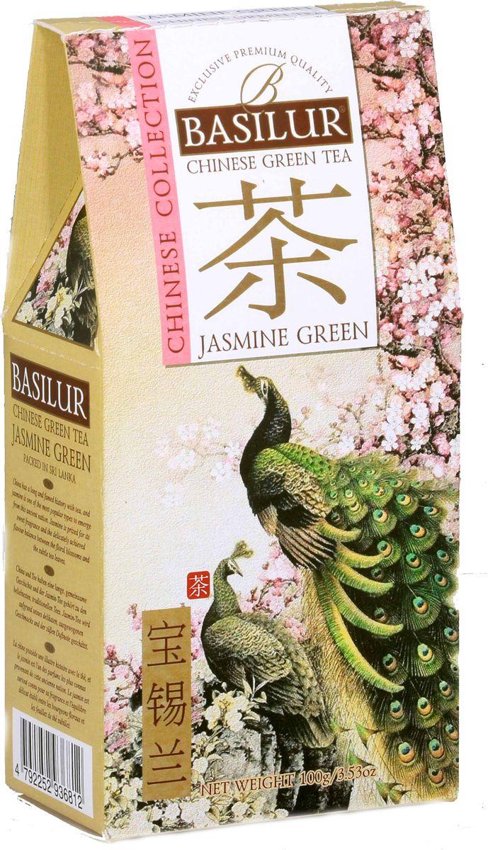 Basilur Jasmine Green зеленый листовой чай, 100 г basilur frosty afternoon черный листовой чай 100 г жестяная банка