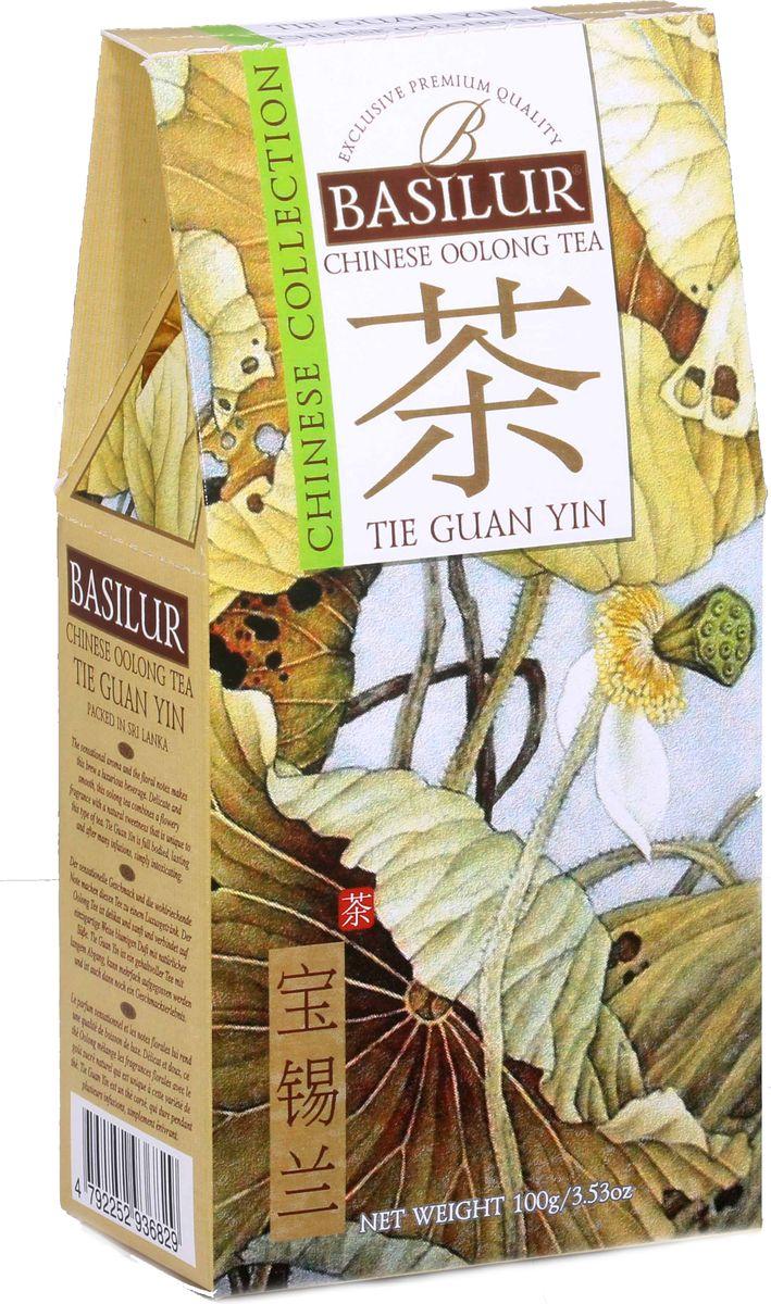 Basilur Tie Guan Yin зеленый листовой чай, 100 г basilur frosty afternoon черный листовой чай 100 г жестяная банка