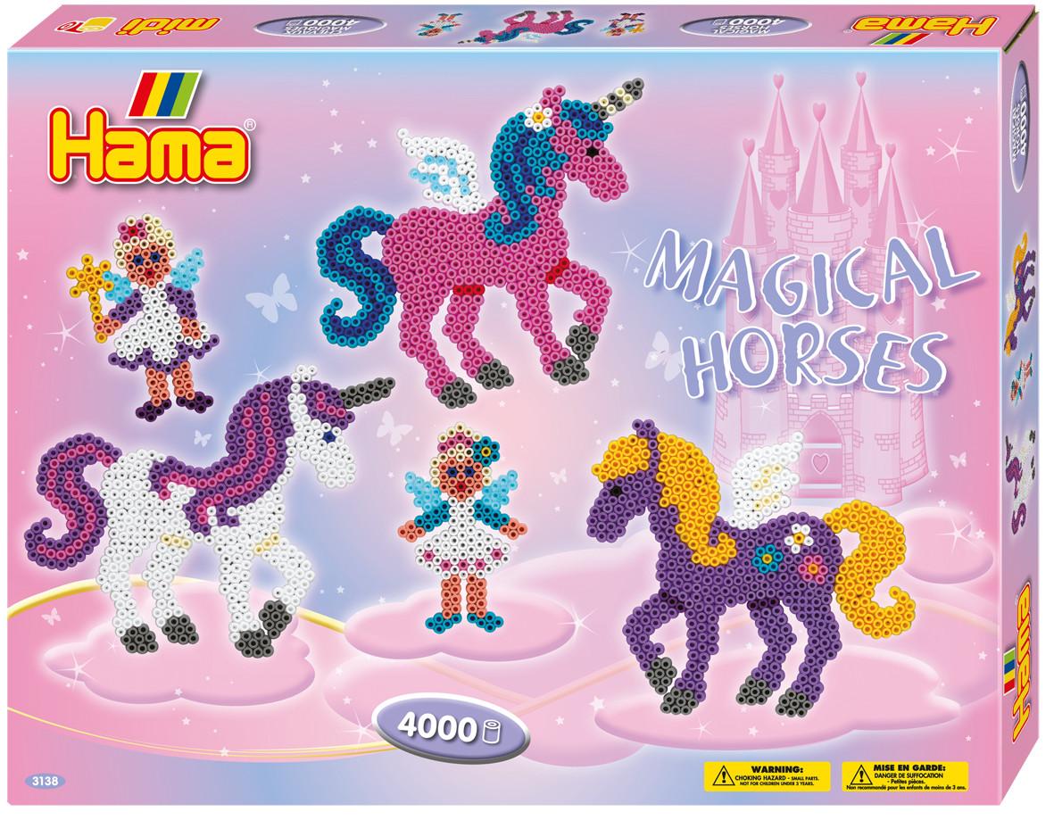 Hama Термомозаика Midi Волшебные лошадки hama термомозаика midi пони