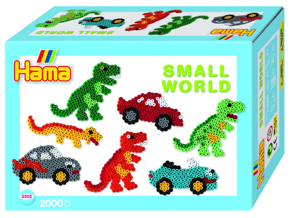 Hama Термомозаика Midi Маленький мир Динозавр Машина hama термомозаика maxi машинка