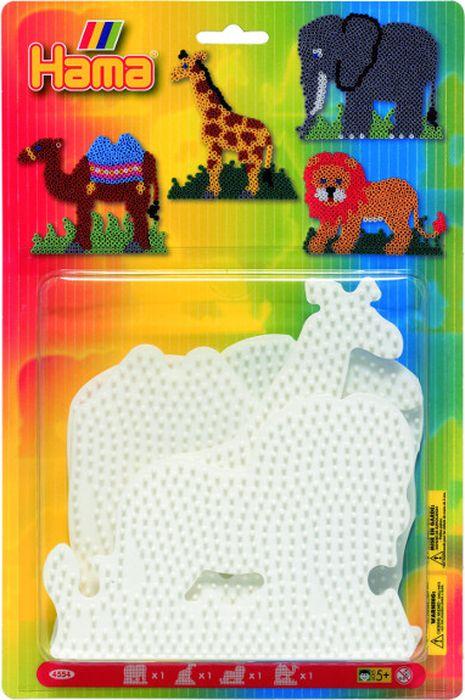 Hama Основы для термомозаики Слон Жираф Лев Верблюд чехол для стирки бюстгальтеров ruges галант цвет белый 18 х 16 х 16 см