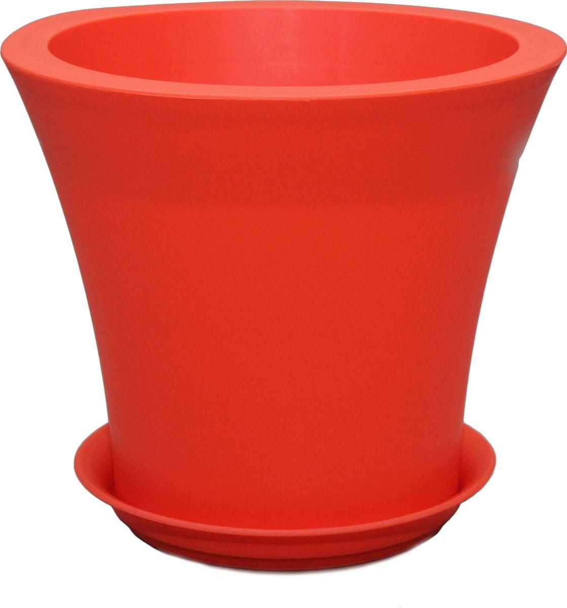 Горшок для цветов Plast Avenue Твист, с поддоном, цвет: оранжевый, диаметр 20 см велосипед kellys avenue 70 2018
