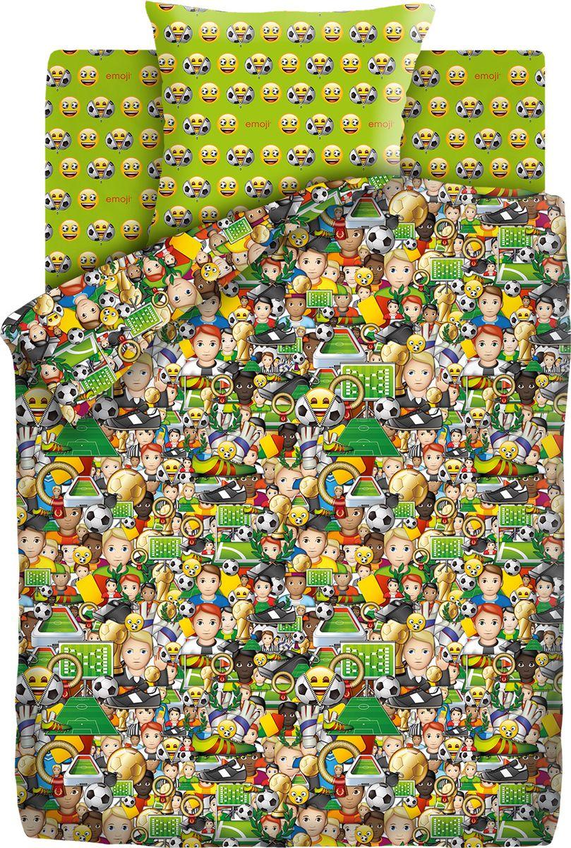 Комплект белья детский Emoji Футбол, 1,5 спальное, наволочки 70x70. 9030-1/9031-1 random color ball emoji round keychain