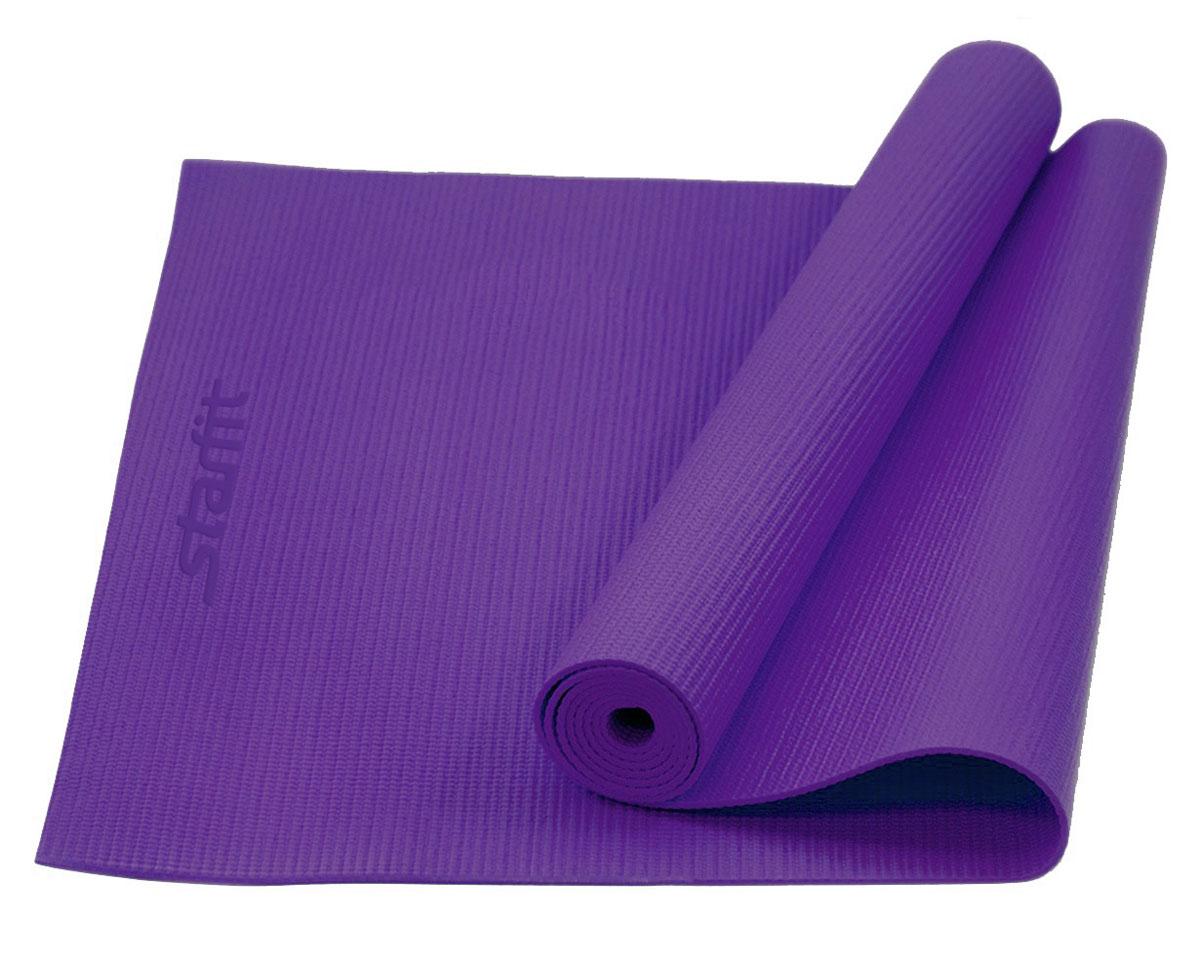 Коврик для йоги Starfit FM-101, цвет: фиолетовый, 173 х 61 х 0,6 см коврик для йоги onerun цвет фиолетовый 183 х 61 х 0 4 см
