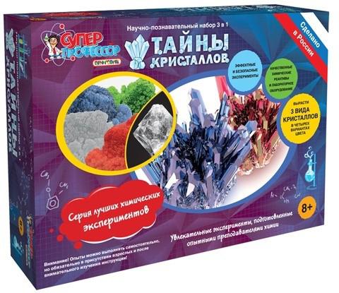 Научные технологии Набор для опытов и экспериментов Тайны Кристаллов 720 г