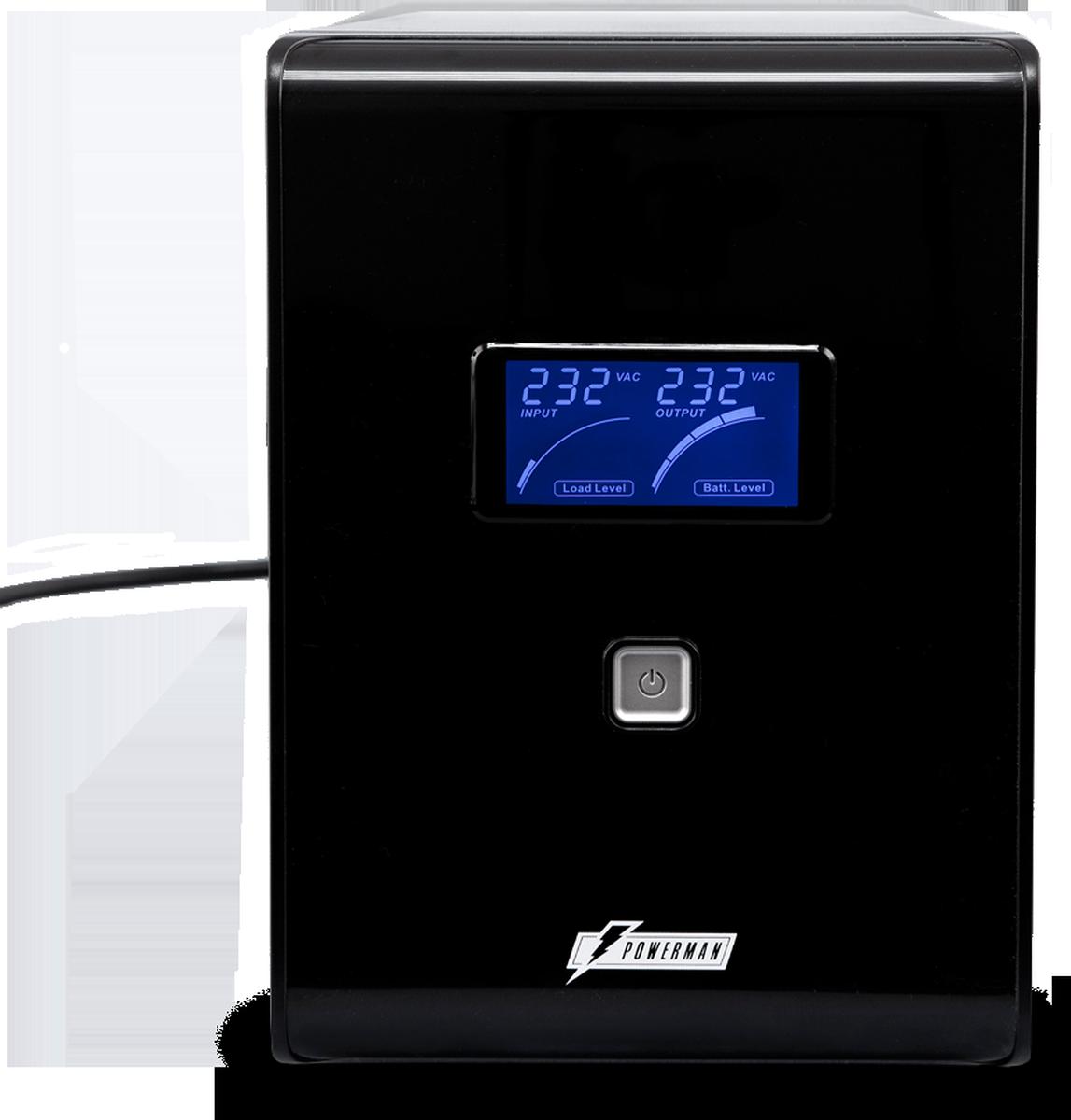 Источник бесперебойного питания Powerman UPS Smart Sine 1500, 1500 ВА источник бесперебойного питания 220в 1500ва smt1500rmi2u