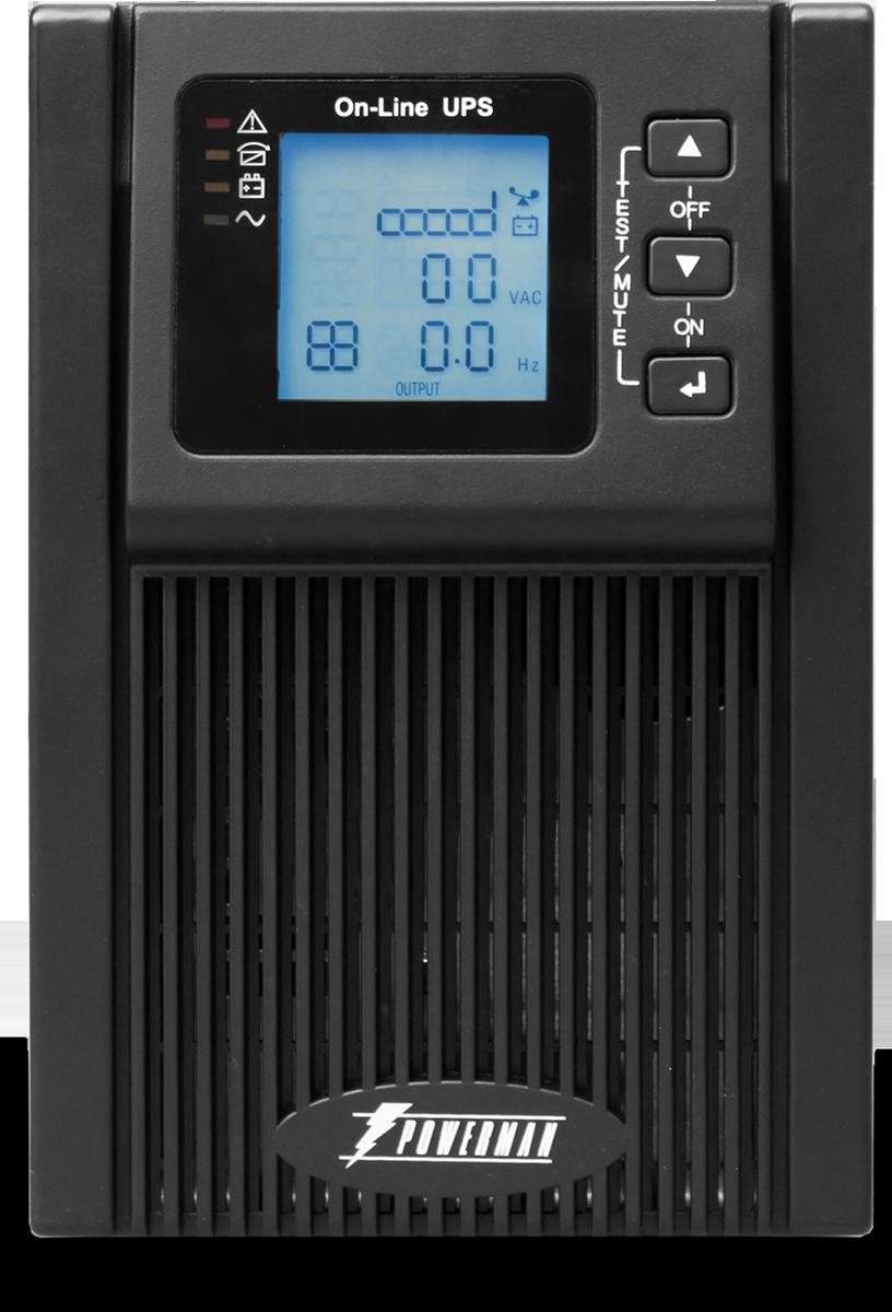 Источник бесперебойного питания Powerman UPS Online 1000, 1000 ВА источник бесперебойного питания powerman ups вack pro 1000 1000 ва