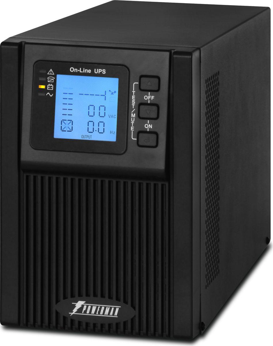 Источник бесперебойного питания Powerman UPS Online 1000 Plus, 1000 ВА источник бесперебойного питания powerman ups вack pro 1000 1000 ва