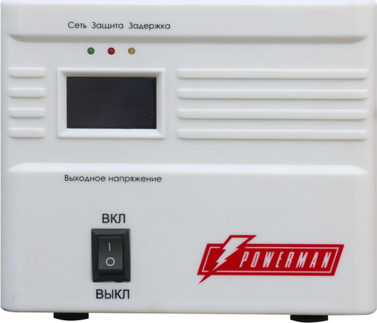 """Стабилизатор напряжения Powerman """"AVS 500 A"""", 500 ВА"""