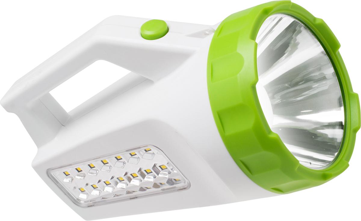 Фонарь ручной Космос KOCAccu678Ex, аккумуляторный, цвет: белый, зеленый