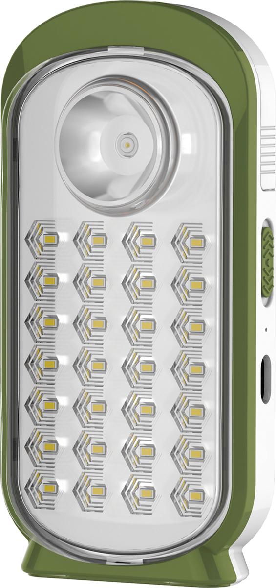 Фонарь кемпинговый Космос, аккумуляторный, цвет: белый, оливковый. KOC126LEDKOC126LEDФонарь-светильник Космос 126 LED аккумуляторный - лучший помощник в работе. Аккумулятор 4В4Ач, позволит использовать модель как аварийный источник света. На корпусе есть отверстие для установки на стену. Встроенный полноценный фонарь мощностью 3Вт и LED-панель 14Вт ( 28*0,5W ). Светильник можно использовать с выдвижной ручкой. До 14 часов света. Гнездо для подзарядки от 12В. Рекомендуем!