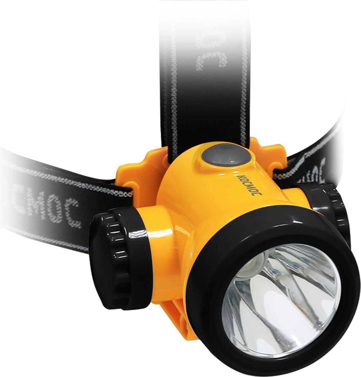 Фонарь налобный Космос KOCH3WLi-On, аккумуляторный, цвет: оранжевый