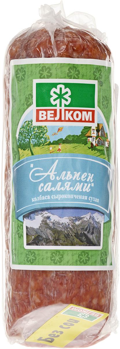 Велком Альпен салями сырокопченая, 230 г велком колбаса брауншвейгская сырокопченая 150 г