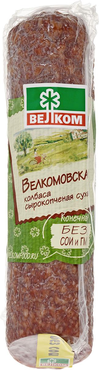 Велком Велкомовская колбаса сырокопченая, 300 г велком альпен салями сырокопченая 230 г