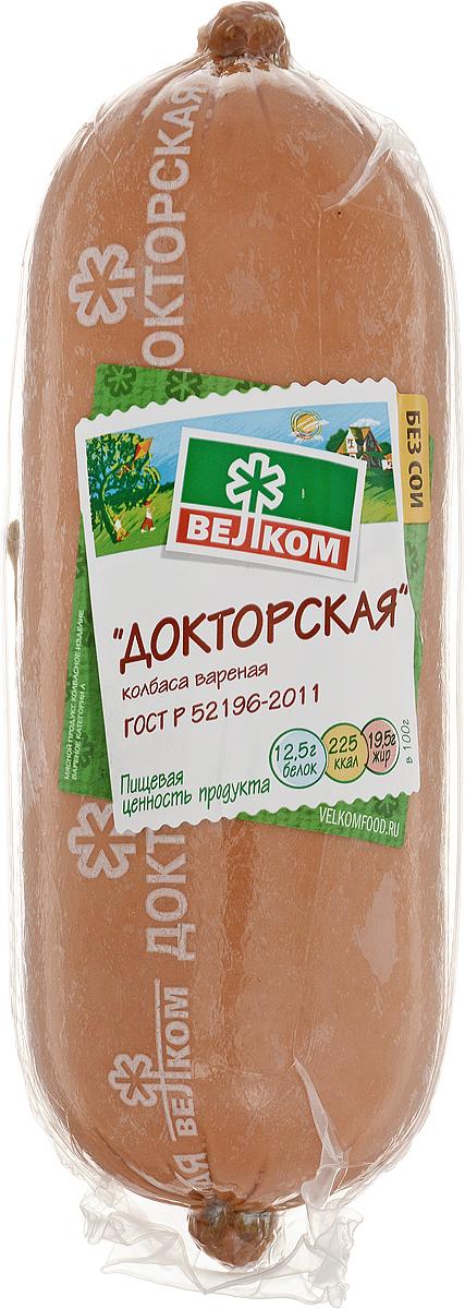 Велком Докторская колбаса в белковой оболочке, 620 г колбаса велком одесская п к н о