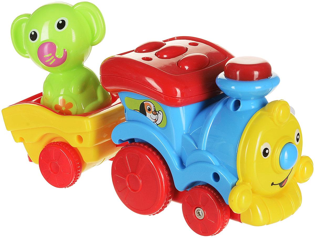 Умка Развивающая игрушка Паровозик музыкальный цвет голубой чикко игрушка котенок музыкальный