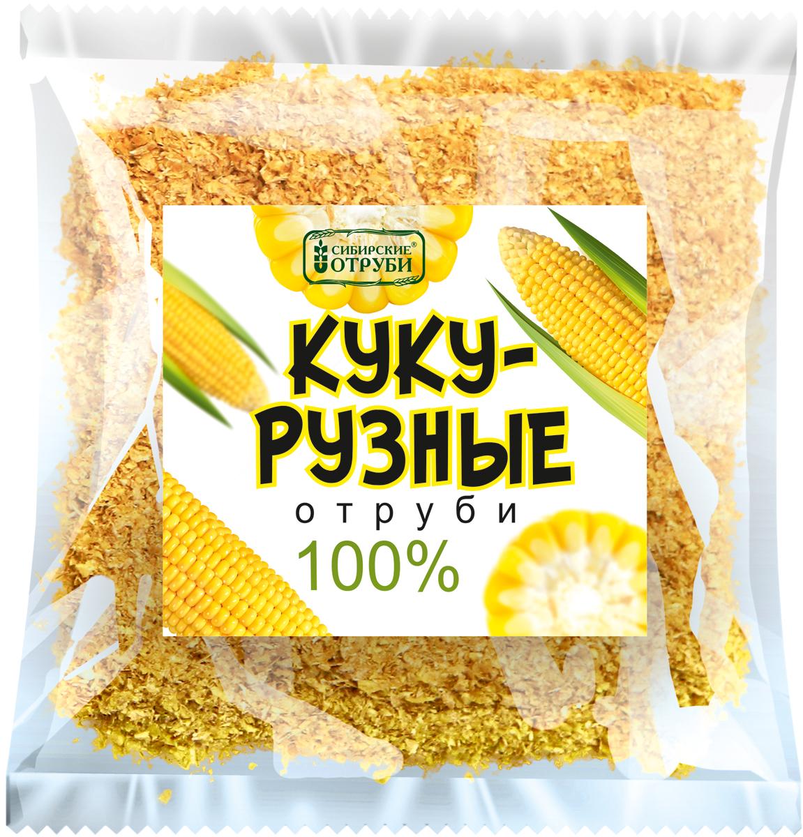 Сибирские отруби Кукурузные натуральные 100%, 180 г
