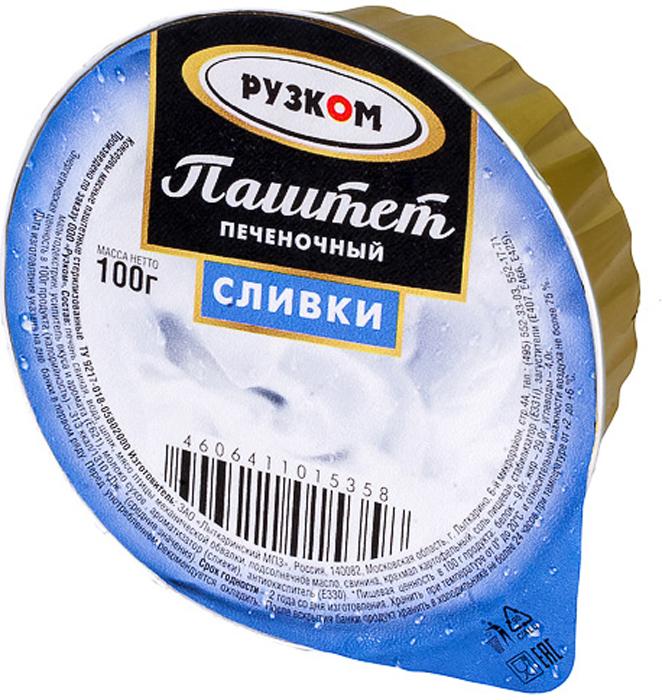 Рузком Паштет печеночный сливки ламистер, 100 г заказать сливки