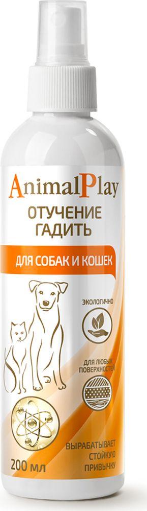 Спрей для коррекции поведения Animal Play Отучение гадить, для собак и кошек, 200 мл спрей для коррекции поведения собак 8 in 1 no chew spray