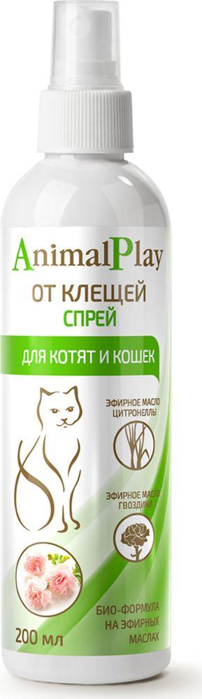 Спрей репеллентный для котят и кошек Animal Play, от клещей и эктопаразитов, 200 мл спрей от клещей для животных