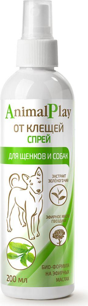 Спрей репеллентный для собак Animal Play, от клещей и эктопаразитов, 200 мл спрей от клещей для животных