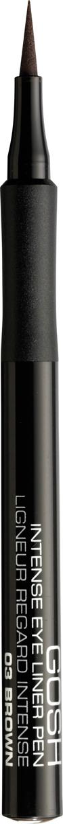 Gosh Подводка-фломастер для глаз Intense, 1 мл, тон №03 gosh intense eye liner pen