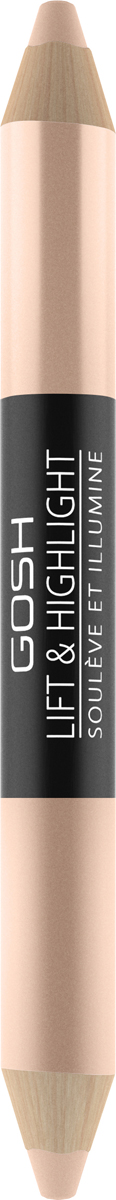 Gosh Двухсторонний карандаш-хайлайтер для глаз Lift & Highlight, 3 г, тон №001
