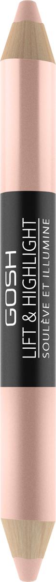 Gosh Двухсторонний карандаш-хайлайтер для глаз Lift & Highlight, 3 г, тон №002