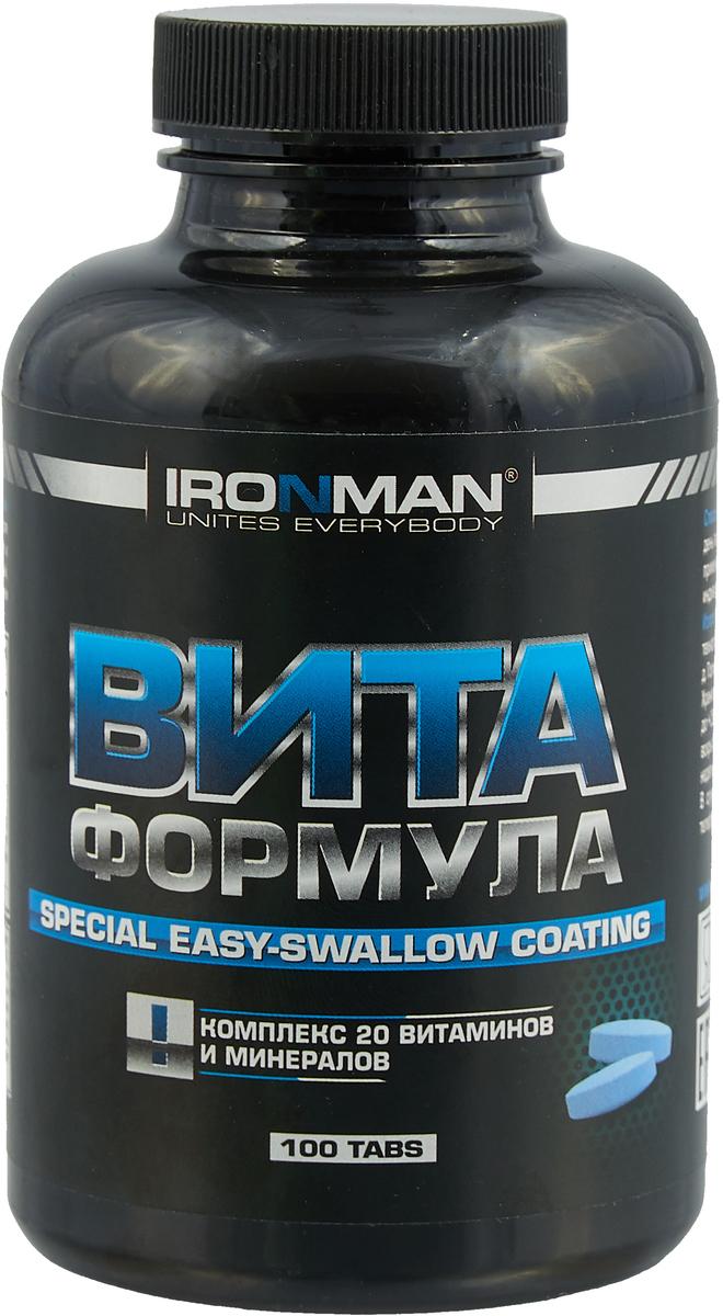 Витаминно-минеральный комплекс Ironman Vita Formula, 100 таблеток4607062750322Ironman Vita Formula - это высокоэффективный комплекс, включающий в себя полный набор витаминов и минералов, необходимых организму, плюс ферменты, способствующие лучшему усвоению питательных веществ. Ironman Vita Formula - это исключительно натуральная формула, содержащая хелатированные минералы. Не содержит каких-либо искусственных красителей и добавок. Способ употребления: принимать по 1 таблетке ежедневно с едой. Для лиц, ведущих активный образ жизни или интенсивно тренирующихся, можно увеличить ежедневную дозу до 2-3 таблеток. Состав: смесь витаминов DSM Group (Швейцария), комплекс минеральных солей, пленочное покрытие Colorcon (Англия). Товар сертифицирован. Уважаемые клиенты! Обращаем ваше внимание на возможные изменения в дизайне упаковки. Качественные характеристики товара остаются неизменными. Поставка осуществляется в зависимости от наличия на складе. Как повысить эффективность тренировок с помощью спортивного питания? Статья OZON Гид