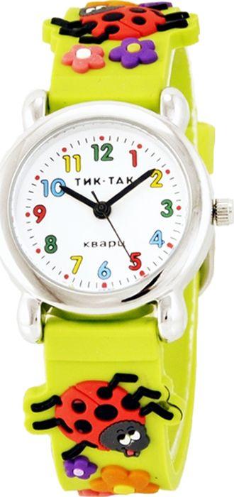 Часы наручные детские Тик-Так Божьи коровки, цвет: желтый. 112-2 часы детские наручные