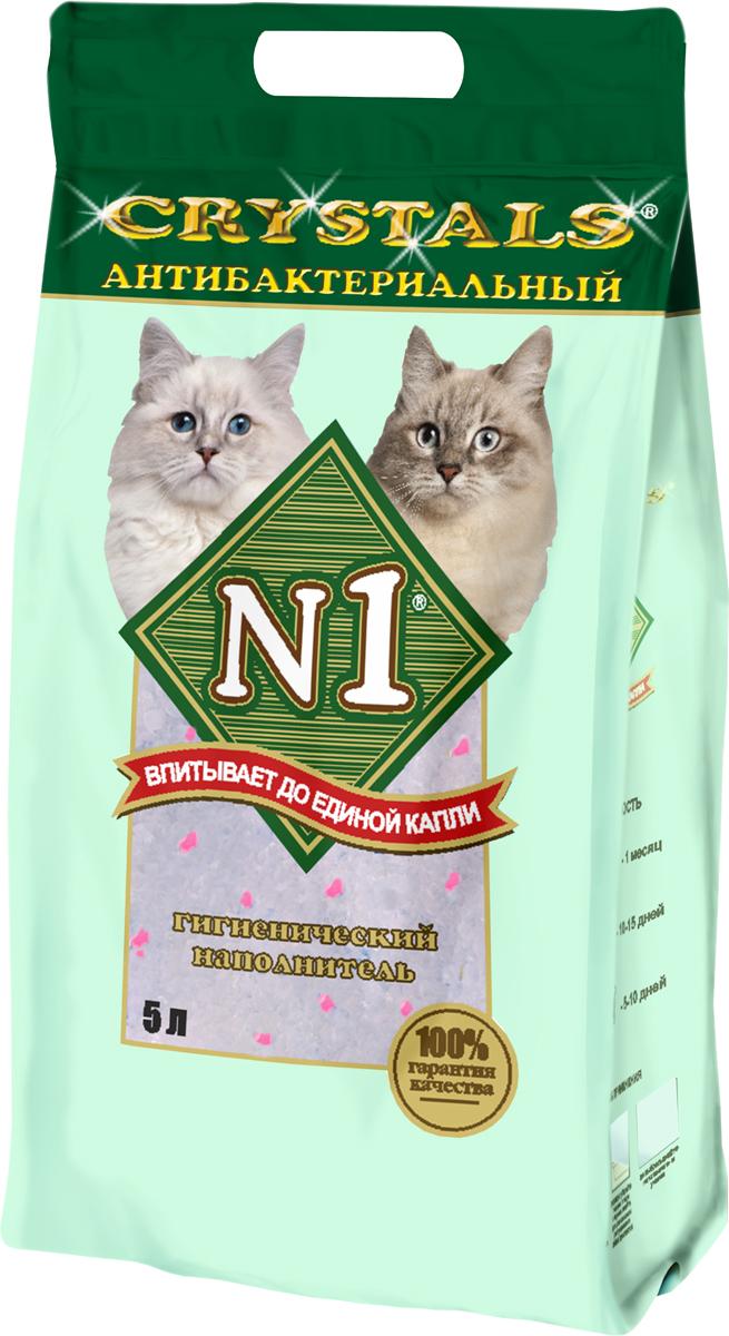№1 Наполнитель для кошачьего туалета антибактериальный силикагель 5 л