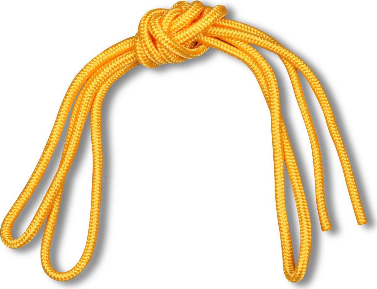 Скакалка гимнастическая Indigo Great, цвет: желтый, 3 м детская скакалка 2 3 м в ассортименте