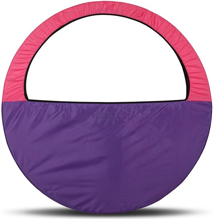 Сумка-чехол для обруча Indigo, цвет: фиолетово-розовый, диаметр 60 х 90 см сумка чехол для обруча indigo цвет салатовый диаметр 60 х 90 см
