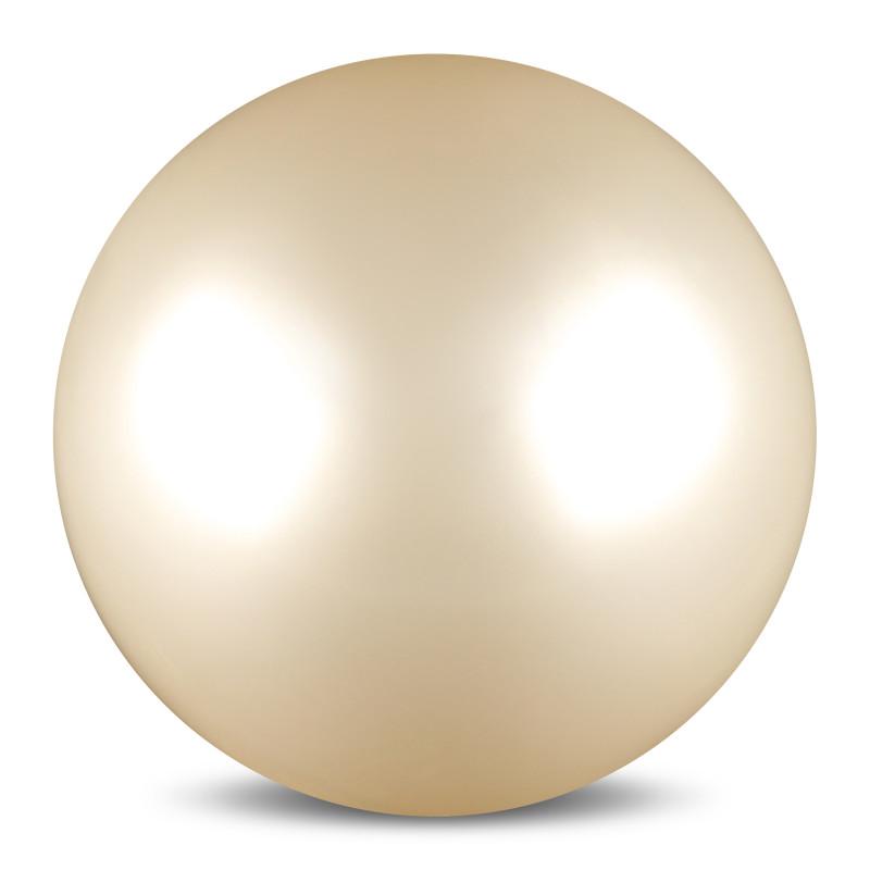 Мяч для художественной гимнастики Indigo, силиконовый, цвет: белый, диаметр 15 см мяч для художественной гимнастики indigo силиконовый цвет разноцветный диаметр 15 см
