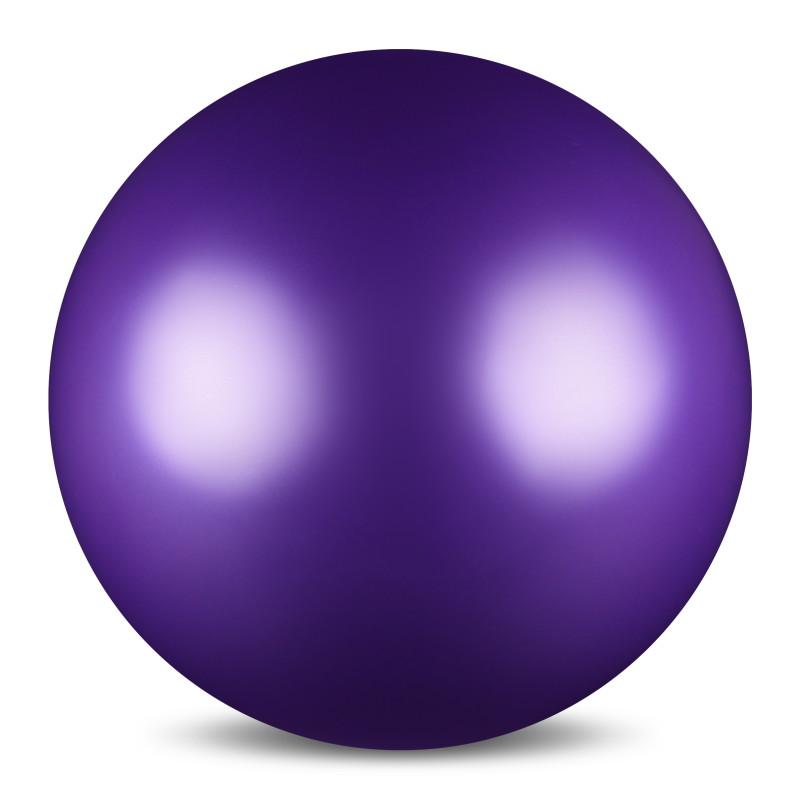 Мяч для художественной гимнастики Indigo, силиконовый, цвет: фиолетовый, диаметр 15 см цена