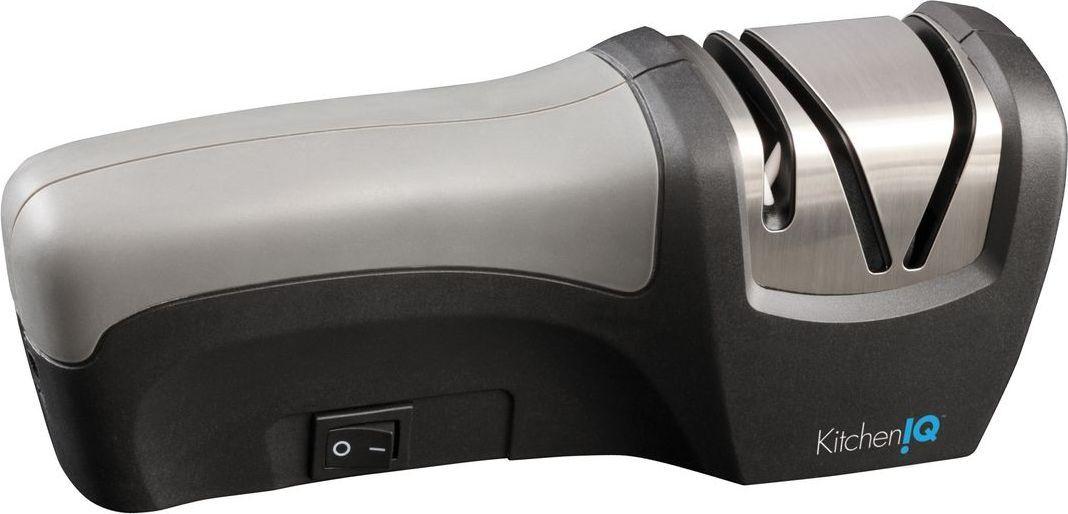 Точилка для ножей KitchenIQ, электрическая, цвет: серый, черный. 50073 цена