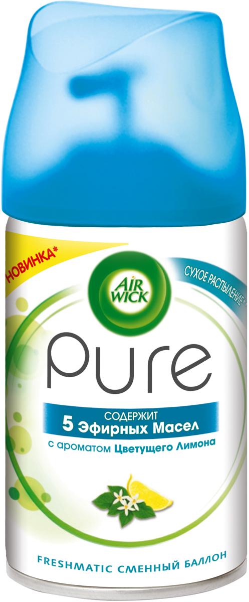 Освежитель воздуха AirWick Pure Цветущий Лимон, сменный баллон, 250 мл