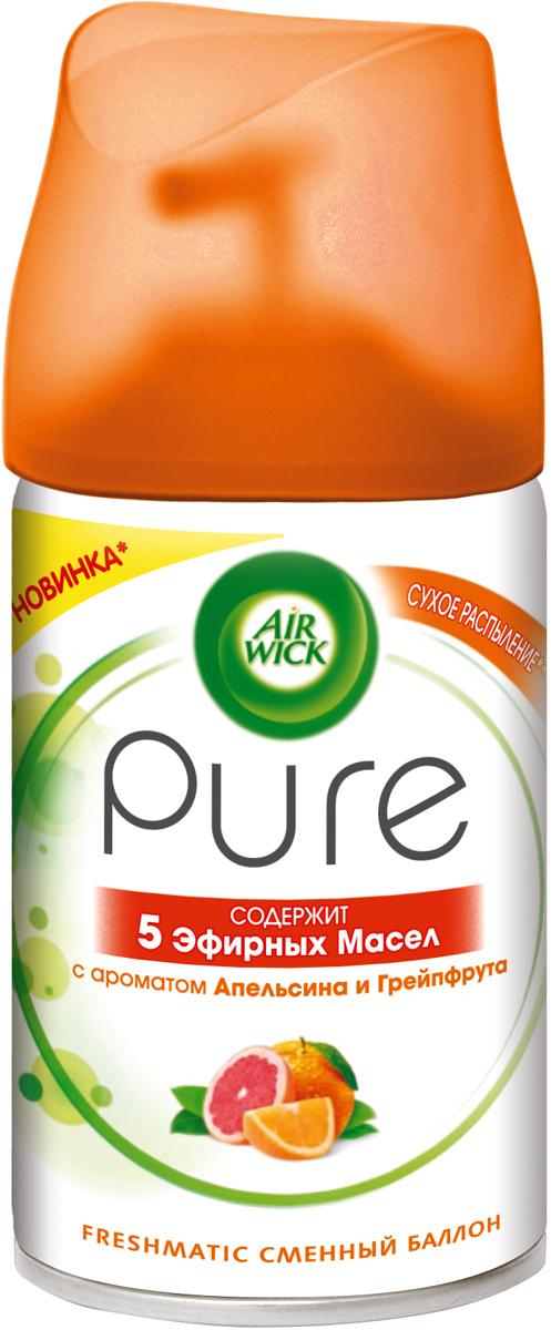 Освежитель воздуха AirWick Pure Апельсин и Грейпфрут, сменный баллон, 250 мл