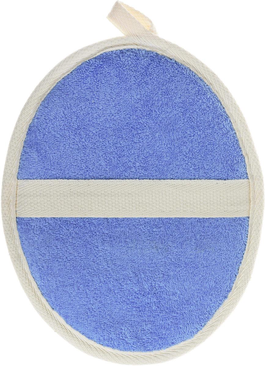 Мочалка Eva Овал, цвет: голубой, 14 см х 18 см цена