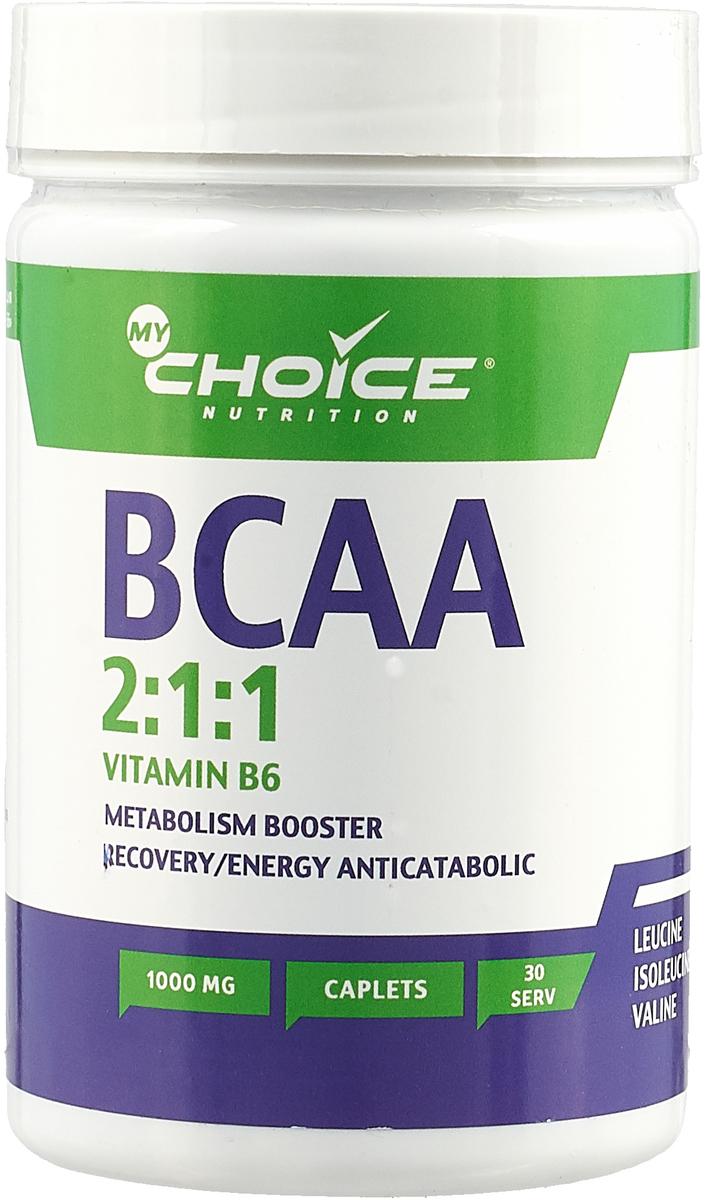 """Аминокислоты MyChoice Nutrition """"BCAA 2:1:1 1000+B6"""", 90 каплет"""