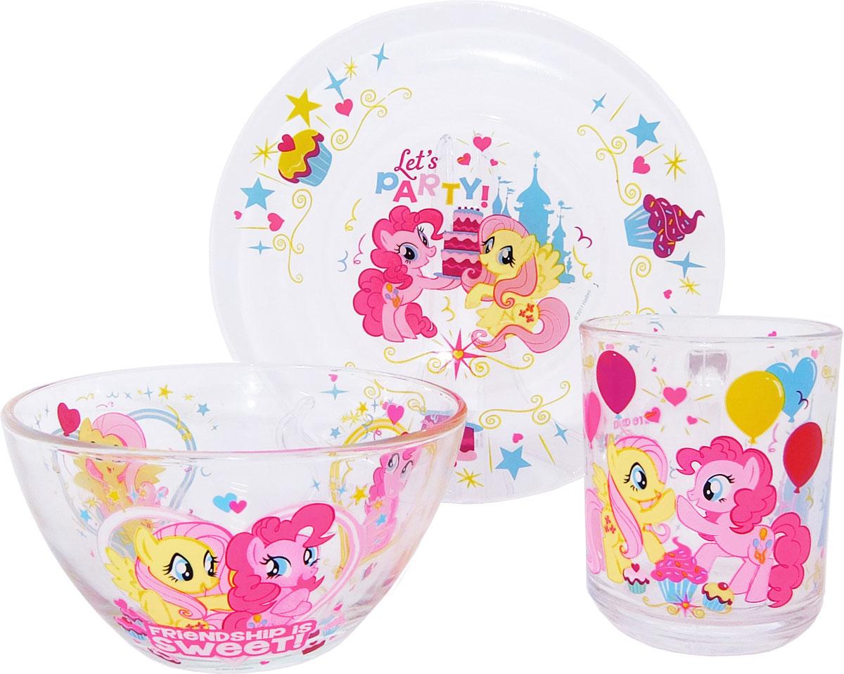 My Little Pony Набор детской посуды 3 предмета набор детской посуды маша и медведь фруктовая корзина 3 предмета