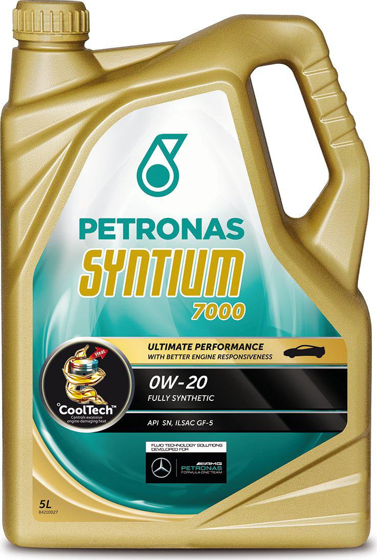 """Масло моторное Petronas """"Syntium 7000"""", синтетическое, 0W-20, 5 л"""