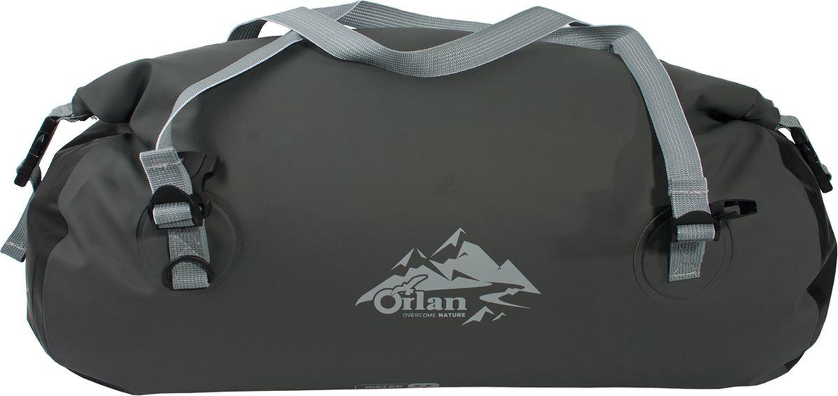 Гермосумка Orlan Экстрим, цвет: темно-серый, 60 л сумка велосипедная orlan экстрим герметичная цвет желтый 30 л