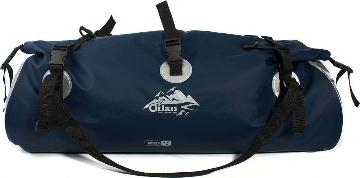 Гермосумка Orlan Экстрим, цвет: темно-синий, 80 л сумка велосипедная orlan экстрим герметичная цвет желтый 30 л