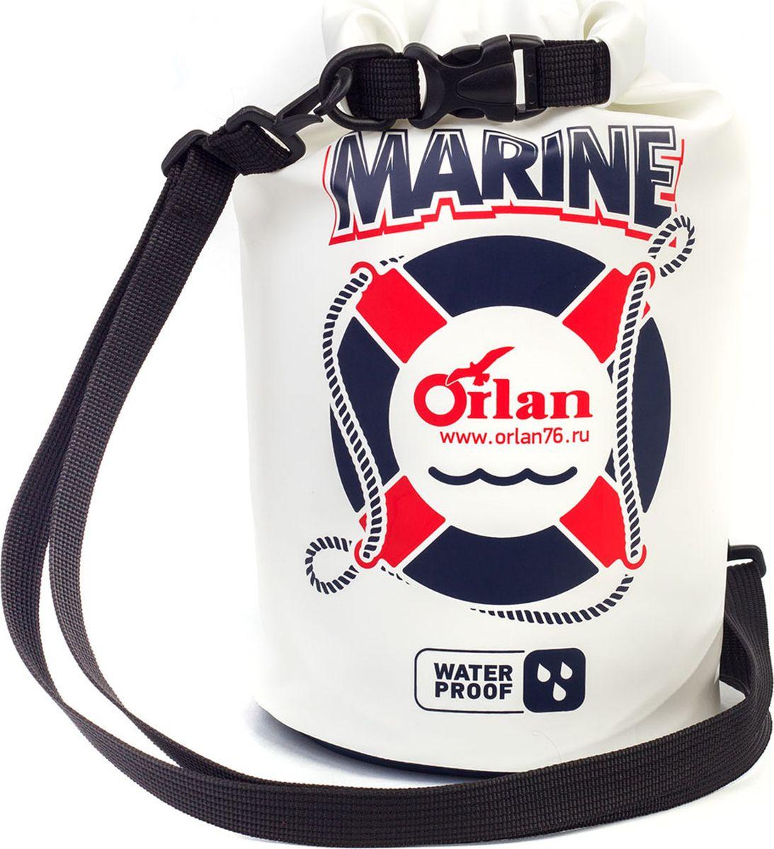 Гермомешок Orlan Marina, цвет: белый, 5 л