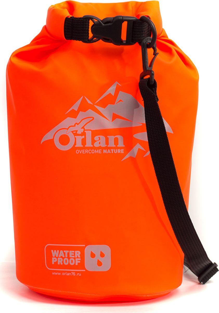 Гермомешок Orlan Экстрим, цвет: ярко-оранжевый, 5 л сумка велосипедная orlan экстрим герметичная цвет желтый 30 л