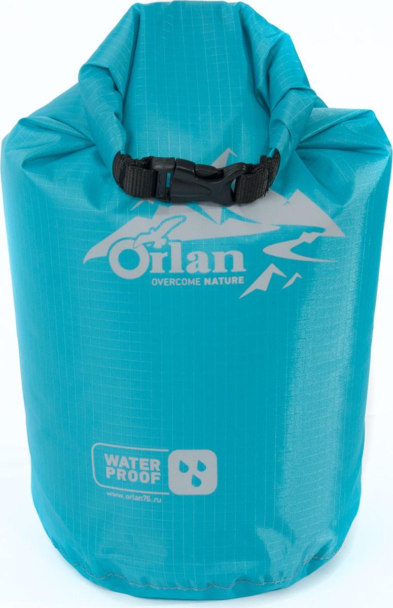 Гермомешок Orlan Лайт, цвет: голубой, 5 лGM20T220T201L5LНебольшой гермомешок серии Лайт имеет современный дизайн и предназначен для любителей активного спорта и отдыха. Гермомешок из легкого и прочного нейлона. Все швы у гермомешка загерметизированы, это обеспечивает защиту ваших вещей от воды, пыли и грязи. Заверните верх на несколько оборотов и зафиксируйте его на защелки Квик Лок. Гермомешок можно эксплуатировать в проливной дождь, сырой снег и грязь. Используемый материал позволяет компактно сложить мешок. Сверх легкий, прочный.