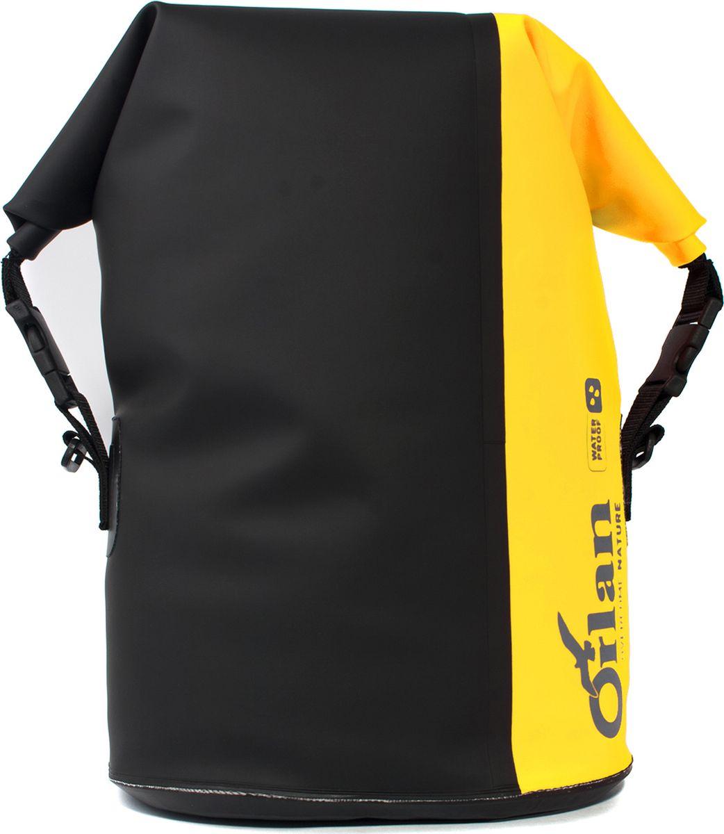 Сумка велосипедная Orlan Экстрим, герметичная, цвет: желтый, 30 лGV12B101P101L15B2Комплект состоит из 2-х сумок (правая, лева я). Вместительные, яркие , герметичные велосумки серии Экстрим. Удобные надежные крепления на багажник велосипеда при помощи крючков. Дополнительная фиксация клапаном и стяжка к средней стойки багажника . Яркий сигнальный цвет сумки сделает вас замене на дороге, для безопасной езды в ночное время - световозвращающий катафот. Имеют усиленное двуслойное дно сумки , жесткую вкладку с внутренней стороны для защиты от истирания. Легко моются. Используемые материалы: Сумка: Комбинация тканей ПВХ литая. Усиления дна и задней части: ПВХ 650 гр.