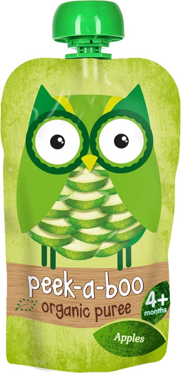 Peek-a-boo пюре органическое яблоко, с 4 месяцев, 113 г